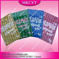 Ex-factory 10g KUSH Klimax potpourri herbal incense bag/ custom printing aluminum foil ziplock bag