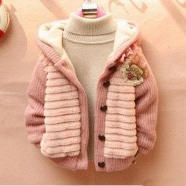 Retail 1PC Children's Fashion 2014 Outerwear Clothing Girls Faux Fur Warm Coats & Jackets For Autumn Winter CCC238(Hong Kong)