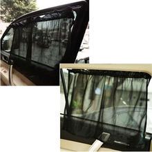 1 Pair Black Car Sun Shade Curtain Suction Cup UV Protection Side Window Curtain -PY(China (Mainland))