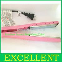 Hot 1 1/4 PRO Nano Titanium 450 pink nano titanium hair straightener,Pink hair straightener (no package box) Free shipping