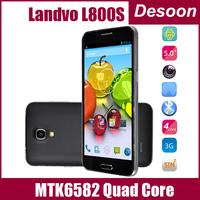 "Original HTM landvo L800s LANDVO L800 CellPhone MTK6582 Quad Core 5.0""IPS Screen 1GB RAM 4GB ROM Android 4.2 Camera 5.0MP GPS 3G"