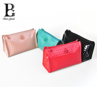 salient point Shiny Cosmetic bag dot casual bag lovely fashion necessarie small bag for girl european and american style