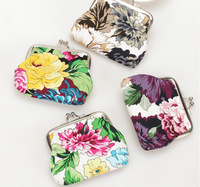 free shipping New wholesale pony flower print fashion purse women  pure coin wallect  mix color