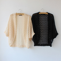 Women's Sweater Gradient Hollow Out Bat Sleeve Knitting Cardigan Free Shipping Wholesale