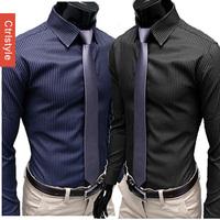 Free Shipping Ctrlstyle Business Formal Pattern Thin Stripe Men Shirt Long Sleeve Men 2014 Mens Dress Shirt