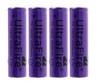 4pcs/lot Ultra Fire TR 18650 4500mAh 3.7V Rechargeble Battery Free Shipping Wholesale