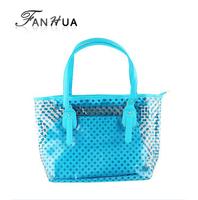 Dot Plastic Multicolor  Lady Interior Slot Pocket Fashion Designer New 2014 Medium Totes Handbags For Women