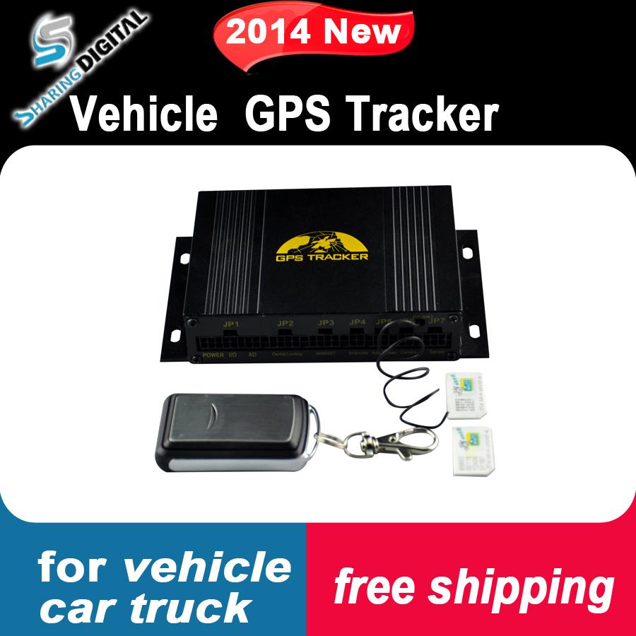 Spedizione gratuita più piccolo camion GSM/GPRS/gps tracker gps per auto inseguitore con telecomando chiusura centralizzata s-gps107b