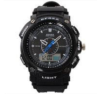 EPOZZ Popular Dual Analog-Digital Men's Sports Watches Date Week Alarm Stop Watch 50M Waterproof relogio duplo Japan movimento