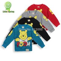 Retail Fleece Spring Autumn Warm Baby boys girls cartoon bear T-shirt casual tops Children kids sweatershirts LittleSpring