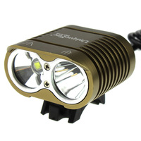 Khaki Color UniqueFire HD-016 2*Cree XM-L2 4 Modes 2000LM led bike bicycle cycling light (Waterproof 4*18650 battery Included)
