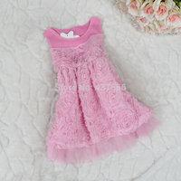 New arrival Children's vest Girls vest skirt In the summer of children's dress The roses skirt 1pcs