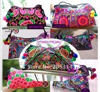 Wholesale Mix Order 15 Style Hmong Embroidery Handbag/Messager Bag Ethnic Handmade Bag 10pcs/lot
