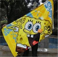 New arrive Sponge Bob bath towel for adult