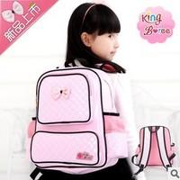 Freeshipping 2014 High quality children school pink girls bag korea children school bags mochila infantil mochilas school kids