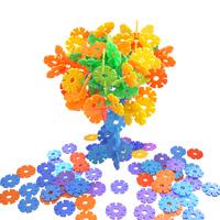 Snowflakes blocks plastic baby girl male assembling 1 3 5 - - - - 7 6