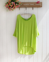 2014 new women's Long loose  T-shirt in large size shirt