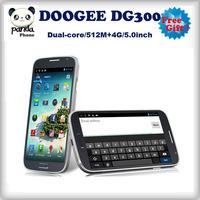 Free shipping Doogee DG300 5.0'' screen 512mb ram 4gb rom dual core mtk6572 dusl sim android gps wifi russian smartphone 2014hot