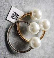2014 big Pearl bracelet female fashion vintage big pearl cuff Charm bracelets & bangles statement gold Open the bracelet
