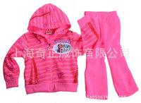Retail Frozen Winter Children Fleece Clothing Set Baby Boys Girls Cartoon Anna Elsa Outwear Coat Y20281