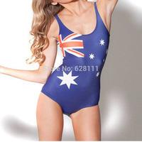 One-Piece  Women's Swimwear Digital Printing Backless Swimsuit woman Beachwear Dress Australia flag