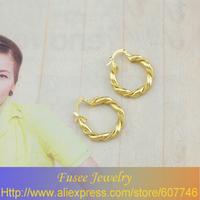 IZI01528 18K Gold Filled Round earrings 2pcs/lot
