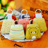 2629 Free shipping minimum order $10 (mixed items) New arrival mini handbag small storage box coin box cartoon candy box