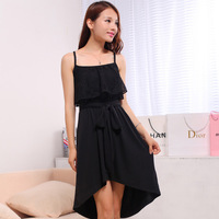 New 2014 fashion Spaghetti strap chiffon one-piece dress women  bohemia  dresses women  Free Shipping
