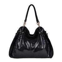 New Fashion Genuine Leather bag high quality brand design snake skin shoulder bag women messenger bag