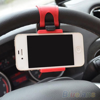 Car Steering Wheel Mount Holder Rubber Band For iPhone iPod MP4 GPS  Mobile Phone Holders  01SZ