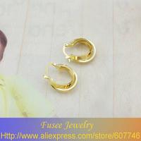 IZI02528 18K Gold Filled Round earrings 2pcs/lot