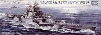 """1/700 Trumpeter 05750 French Navy """"Richelieu"""" battleship 1943  model building   Assembled model"""