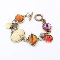 2014 Costume Jewelry Latest Style Popular Retro Candy Color Lady Bracelet!#98136