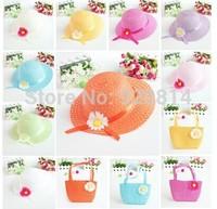 Children sunflowers hat brim hat sun hat big baby aged 2-4 Korean hat handbags