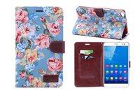 PU flower print printting clothes case cover for Huawei MT1 U06 case Huawei X1 case HUAWEI Ascend Mate 6.1 case