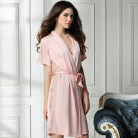 new 2014 silk sexy women robe / hollow out elegant women sleepwear summer nightgown pajamas Free shipping