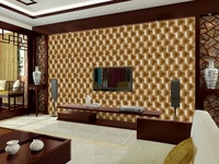 Imitation leather soft package wallpaper 3 D wallpaper The bedroom the head of a bed wall stickers TV setting wallpaper