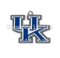 NCAA  free shipping 30pcs a lot single side enamel University of Kentucky Wildcats SEC sports pendant