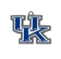 NCAA  free shipping 30pcs a lot single side enamel University of Kentucky Wildcats SEC sports pendant