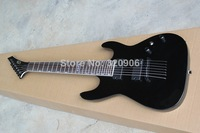 Free Shipping High Quality Wholesale one-piece set neck 7 Strings Black ESP EMG pickups Esp black Electric Bass Guitar