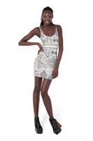 Hot Sale Freeshipping Natural Broadcloth New Summer 2014 Women's European And American Milk Package Hip Slim Elastic Dress