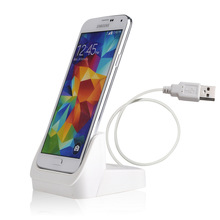 White USB 3.0 Dock Cradle Desktop SmartPhone Charger Spare Battery Charing for Samsung Galaxy S5 i9600 (Slim Case Compatible)