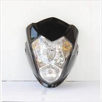 Streetfighter Headlight Raider Black Street Fighter Bike Racing Front Motorcycle