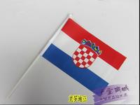2014 World Cup Football soccer fans Croatia flag hand signal flag 20*30 cm free shipping