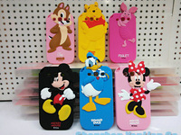 3D Cute Cartoon Mickey Minnie Mouse Polka Dot Bow Duck Chip Bear Piglet Silicone Cover Case For Samsung Galaxy Win I8550 I8552
