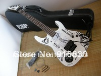 Best price seller Guitar High-quality black ESP KH-2 Kirk Hammett Ouija white electric guitar with case