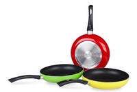 Free shipping Hot sell cheap new Alloy frying red green yellow pan