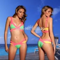 2014 Tankini Swimsuits Women Retro Bikini Vintage Swimwear Cheap Bathing Suits Beachwear Free Shipping Dropshipping 1426B