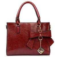 New arrival Bow women handbags Pu leather Lady totes shoulder bags fashion Korea desigual vintage bolsas  A-03