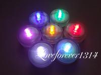 24pcs/lot Changing Colors Tea Light Submersible Waterproof LED Decor Floral Lights Wedding Party  Valentine Decorations Supplies